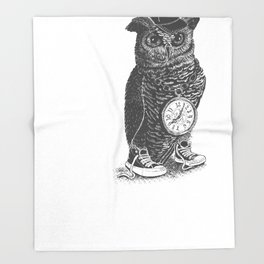 Owl Skool Throw Blanket