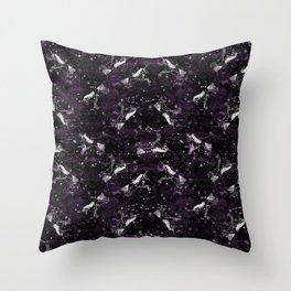 Unicorn constellation magical cute stars unicorns pattern by andrea lauren Throw Pillow