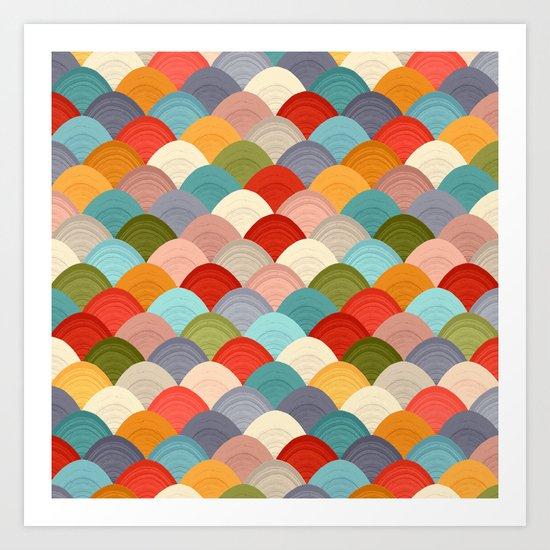 yarn hill dollops summer Art Print