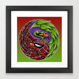 spider yin yang Framed Art Print