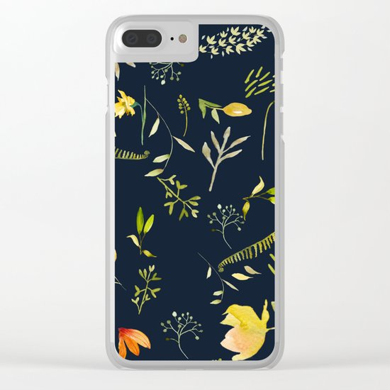 Yellow garden Clear iPhone Case