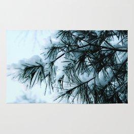 Woodland Snowy Pines Rug