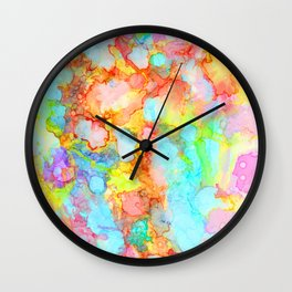 unicorn marble Wall Clock