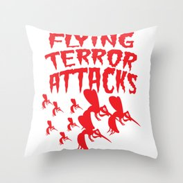 Mosquito Insect Comic Flying Terror Funny Blood Sucker Gift idea Throw Pillow
