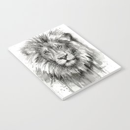 Lion Watercolor Notebook