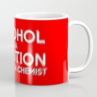 alcohol Mugs featuring Alcohol is a Solution by The Image Zone