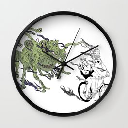 Peddle Faster Wall Clock