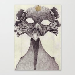 Meeting With Beksinski Canvas Print