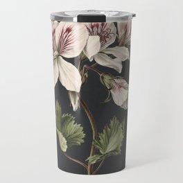 M. de Gijselaar - Pelargonium album bicolor (1830) Travel Mug