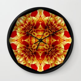 Red-With a Touch of Yellow Wall Clock