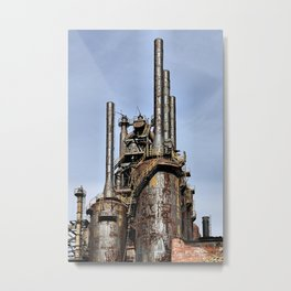 Bethlehem Steel Blast Furnaces Metal Print