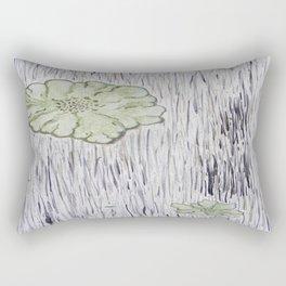 Lichen on Aged Wood Rectangular Pillow