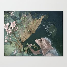 We Are Grt Canvas Print