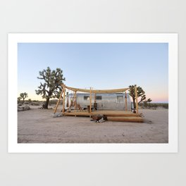 Airstream, Joshua Tree Acres 4 Art Print