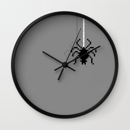 Pixel Spider Wall Clock