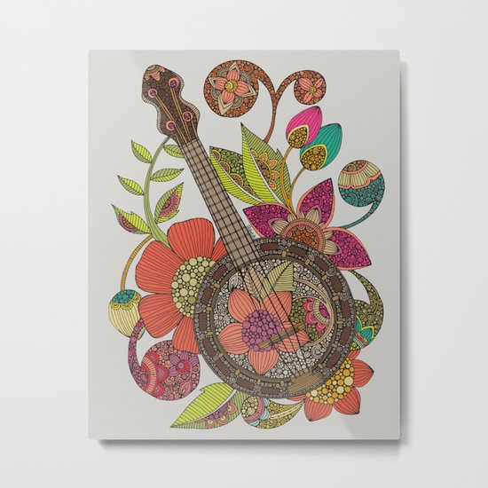 Ever Banjo Metal Print