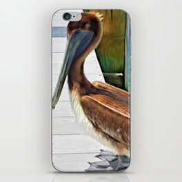 Dockside Pelican by Barbara Chichester Paintographer iPhone Skin