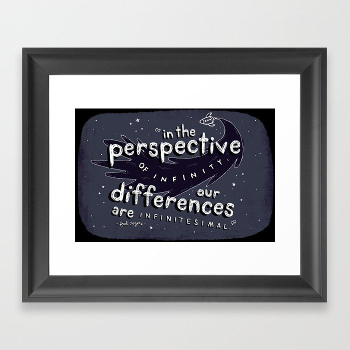 Mr Roger S Quote Framed Art Print By Sarahlownes Society6