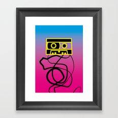 80's problems: Cassette Tape Framed Art Print