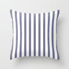 Blue- White- Stripe - Stripes - Marine - Maritime - Navy - Sea - Beach - Summer - Sailor Throw Pillow
