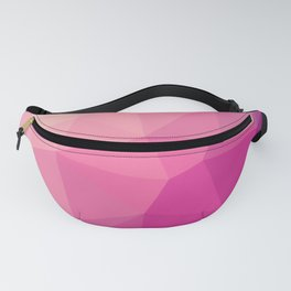 Pastel Pink Purple Polygon Fanny Pack