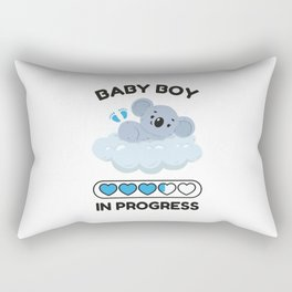 Baby Boy In Progress Rectangular Pillow