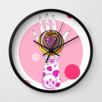 chibi Wall Clocks featuring Chibi Moon by scoobtoobins