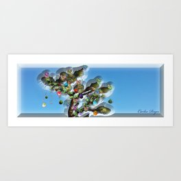 Xmas Joshua Tree Art Print
