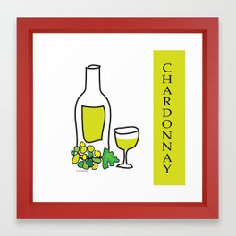 Chardonnay Wine Framed Art Print