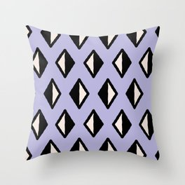 Diamond Pattern Lavender 961 Throw Pillow
