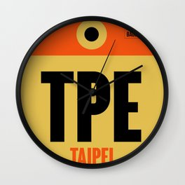 TPE Taipei Luggage Tag 2 Wall Clock