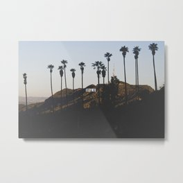 Hollywood Sign Through Palm Trees Metal Print