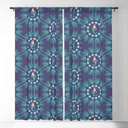 Cute magical blue mermaid seamless pattern Blackout Curtain