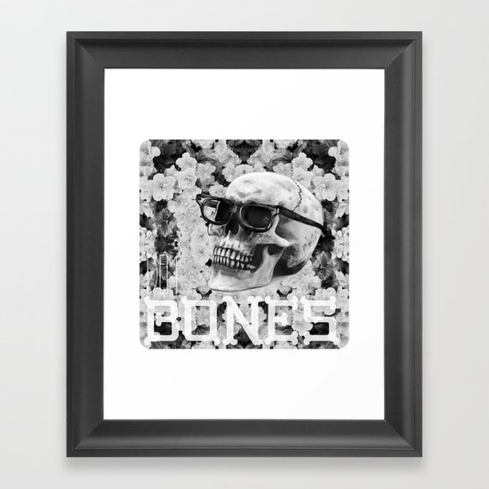 Bone Framed Art Print