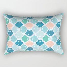 Bright Fish Silhouette Rectangular Pillow