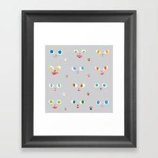 Cat Faces Framed Art Print