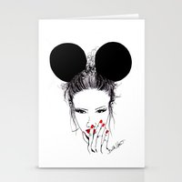 minnie mouse Stationery Cards featuring Minnie Mouse by Bella Harris