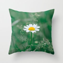 Daisy in the Meadow Throw Pillow