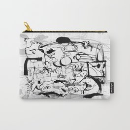 Inside the Mind - b&w Carry-All Pouch