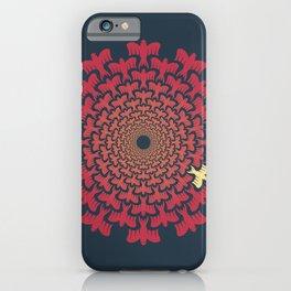 Vortex Original | Tessellating Red Bird Geometric Pattern Inspired By M.C. Escher iPhone Case