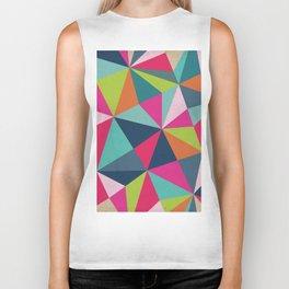 Geometric Triangle Pattern  - Spring Color Palette - Biker Tank