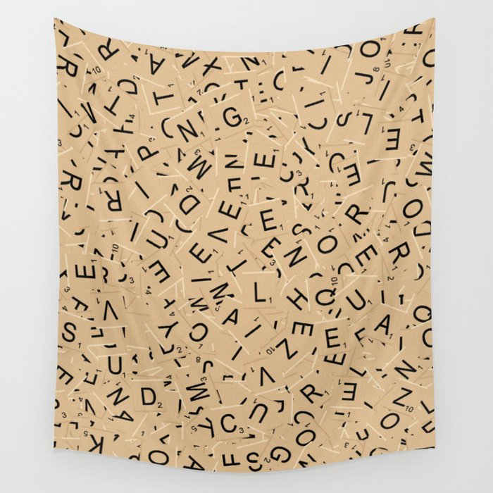 Scrabble Letters Wall Tapestry