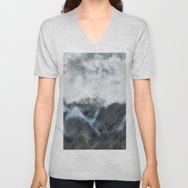 Stormy Mountains Unisex V-Neck