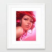 artgerm Framed Art Prints featuring Pepper Freedom by Artgerm™