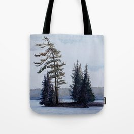 Twin Island, Charleston Lake Tote Bag