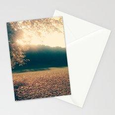 autumn comes and leafs Stationery Cards