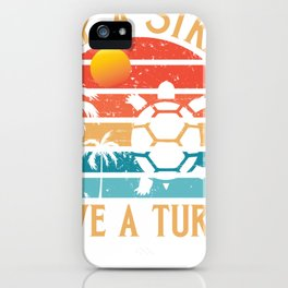 Skip A Straw Save A Turtle iPhone Case