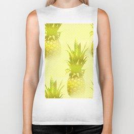 Pineapples Yellow Background #decor #society6 Biker Tank