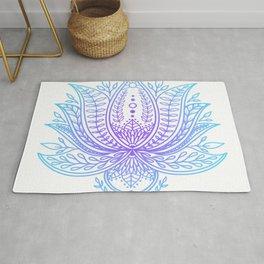 Botanical Lotus - Winter Palette Rug