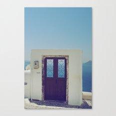 Santorini Door V Canvas Print